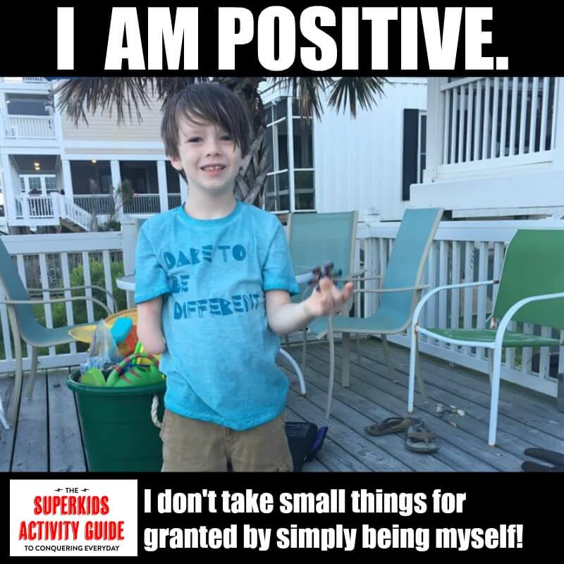 Erica - I am positive. I don't take small things for granted by simply being myself