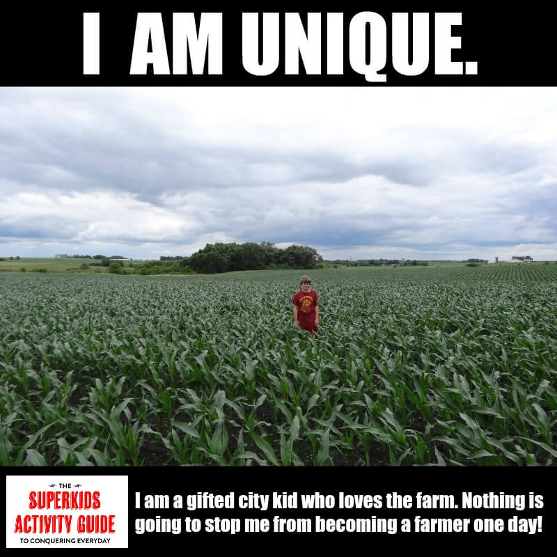 Kelly - I am a gifted city kid who loves the farm. Nothing is going to stop me from becoming a farmer one day