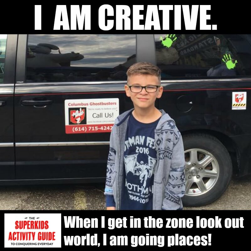 Shannon - I am creative. When I get in the zone look out world, I am going places