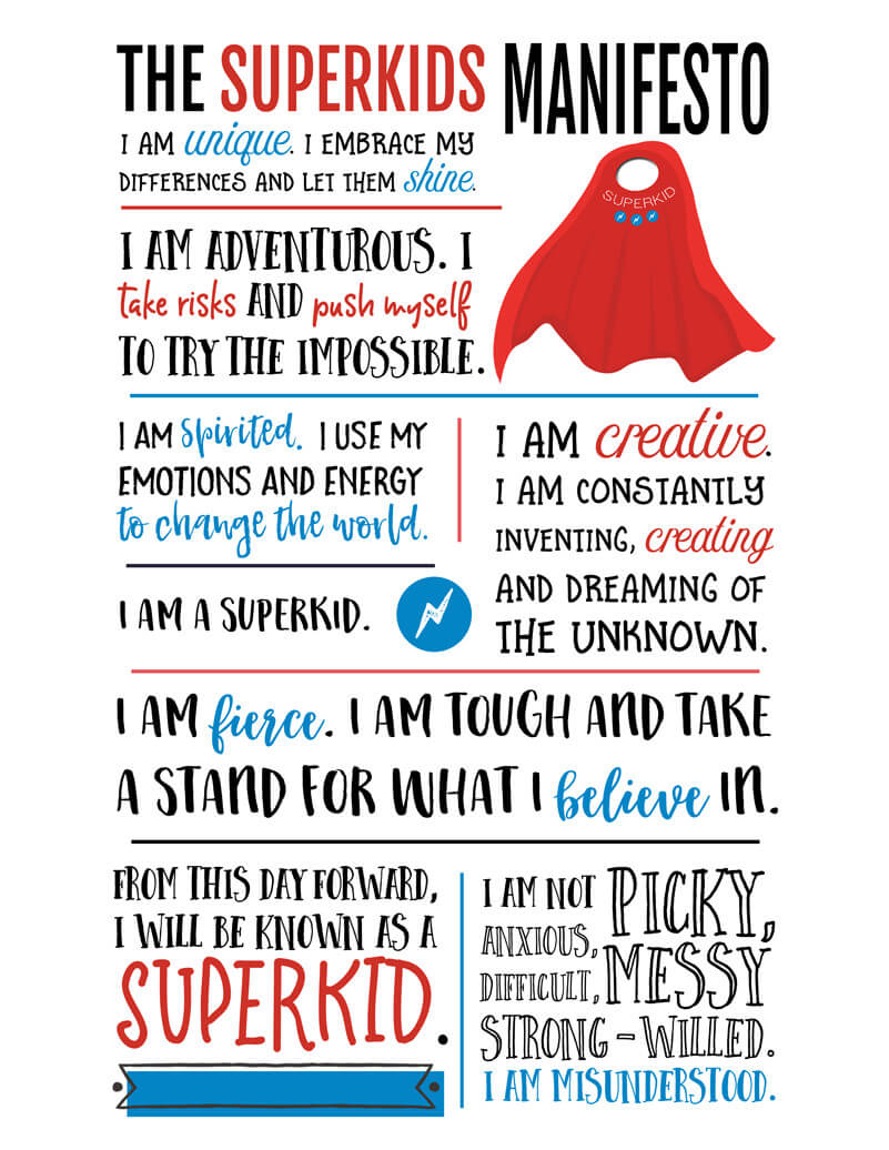 The Superkids Manifesto Printable Wall Art