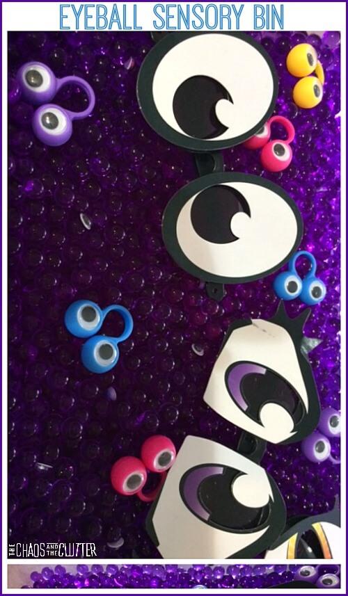 Eyeball Sensory Bin