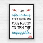 Empowering Wall Art Printable Pack - I Am Adventurous!