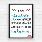 Empowering Wall Art Printable Pack - I Am Creative!