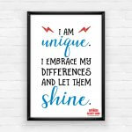 Empowering Wall Art Printable Pack - I Am Unique!