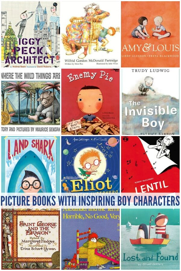 15 Picture Books Featuring Inspiring Boy Characters