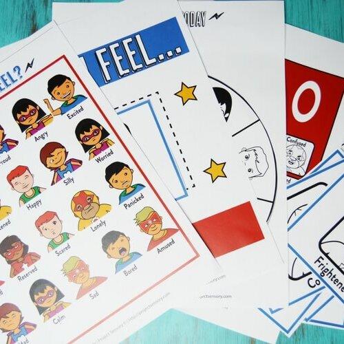 Superheroes Emotions Kit Printable Pack