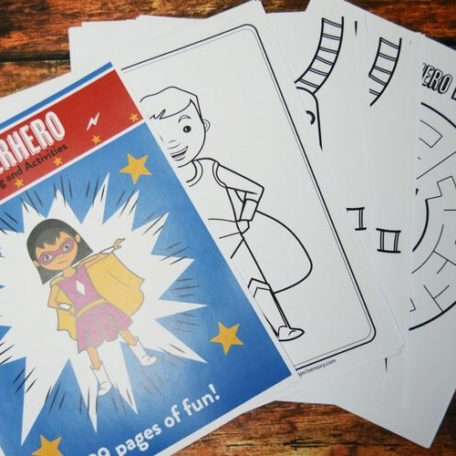 Superheroes coloring and activity book!