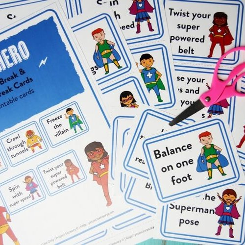 Printable Superhero Brain Break Cards!