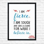 Empowering Wall Art Printable Pack - I Am Fierce!