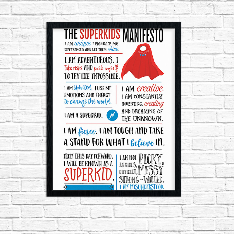 Superkids Manifesto Printable Wall Art